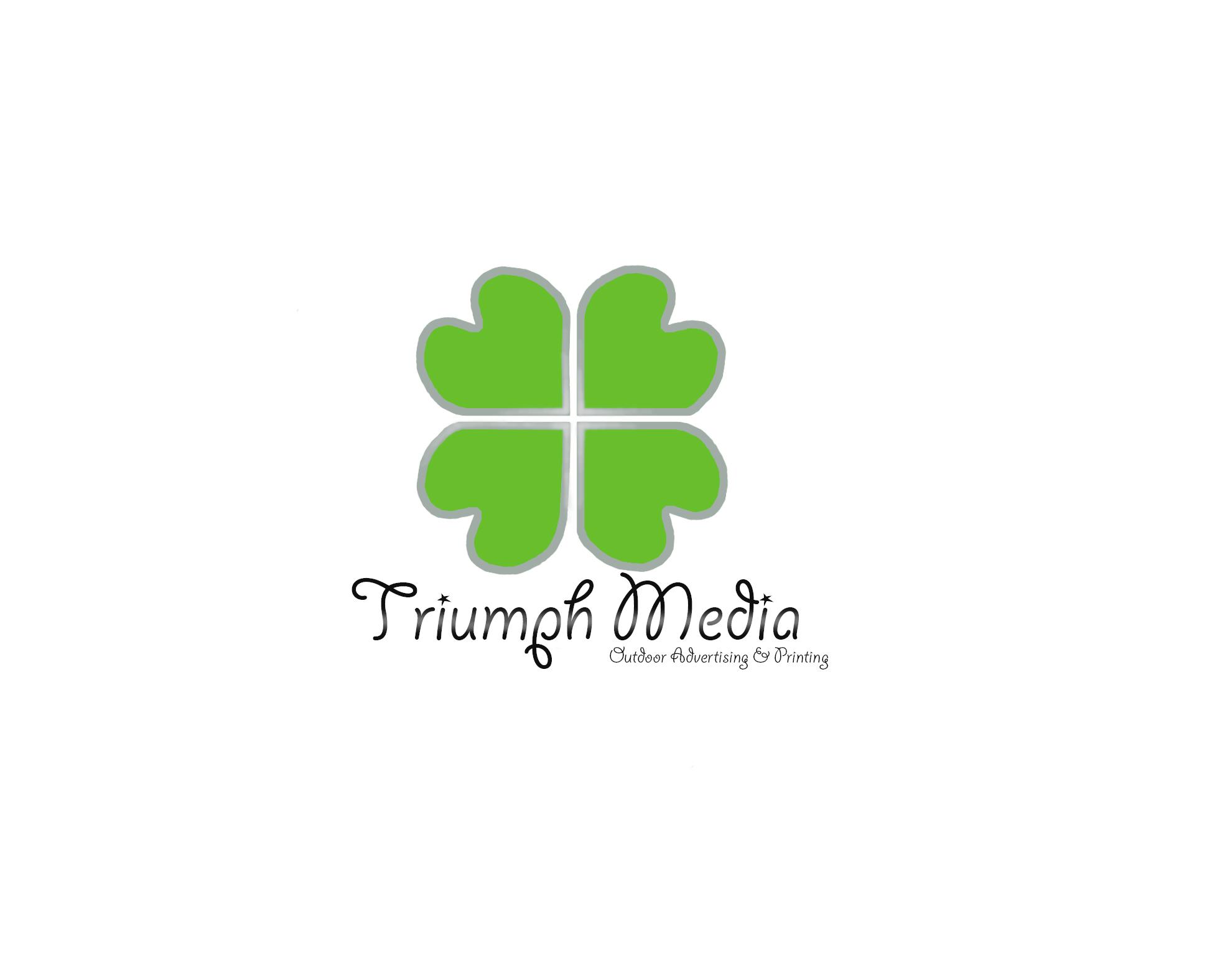 Разработка логотипа  TRIUMPH MEDIA с изображением клевера фото f_506efa1c413a5.jpg