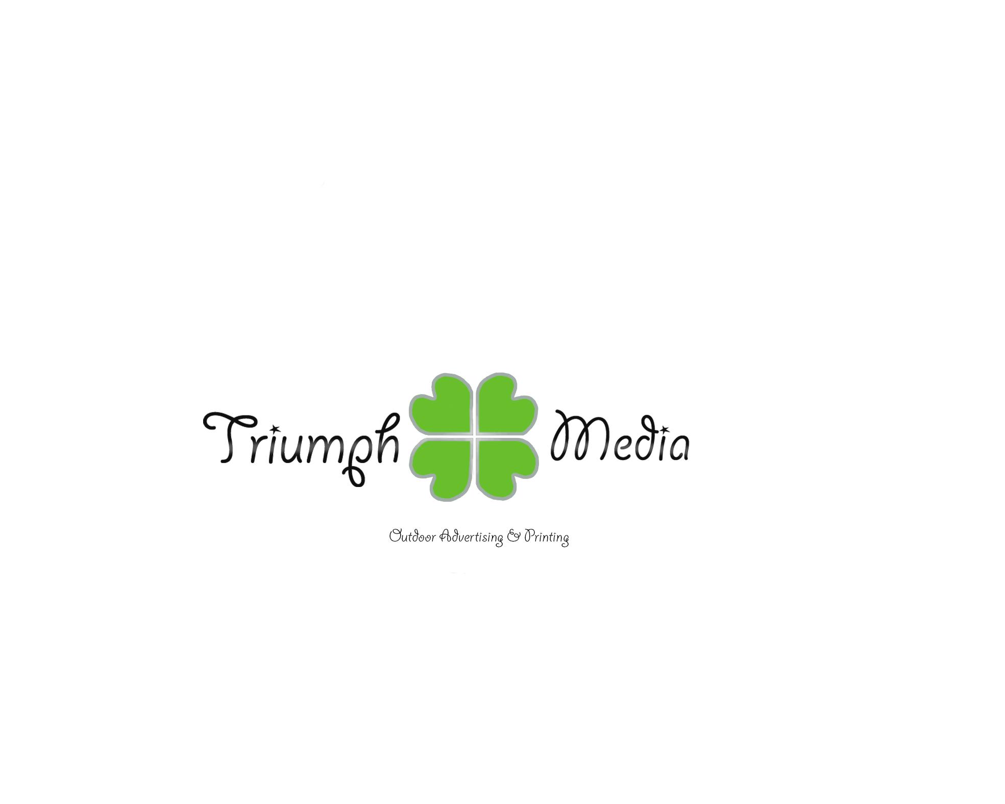 Разработка логотипа  TRIUMPH MEDIA с изображением клевера фото f_506effd1b5345.jpg