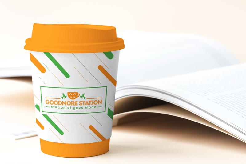 Название сети кофеен GoodMore Station (Казахстан)