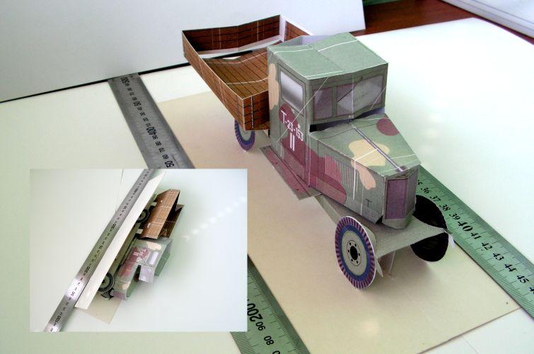 Зис-5, складная попап модель, pop-up card.