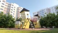 Визуализация детской площадки, Monstrum
