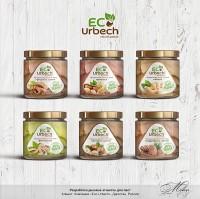 """Дизайн этикеток для паст """"ECO Urbech"""""""