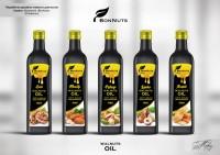 """Дизайн этикеток для масла """"BonNuts"""""""