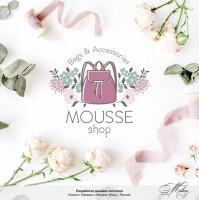 """Логотип для магазина сумок """"Mousse Shop"""""""
