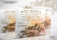Приглашение на свадьбу Италия.