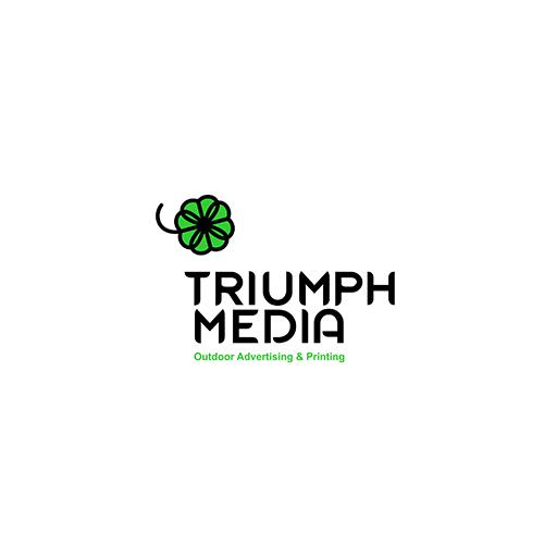 Разработка логотипа  TRIUMPH MEDIA с изображением клевера фото f_506f3d388f1db.png