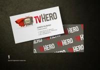 Логотип и визитка для TVHERO