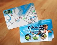 "Карточка ""1 час тенниса в подарок"""