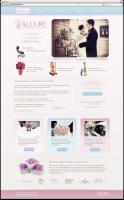Дизайн сайта для свадебного агентства (в. 1)