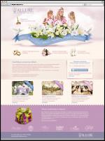 Дизайн сайта для свадебного агентства (в. 2)