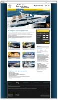 Сайт компании, занимающейся яхтами