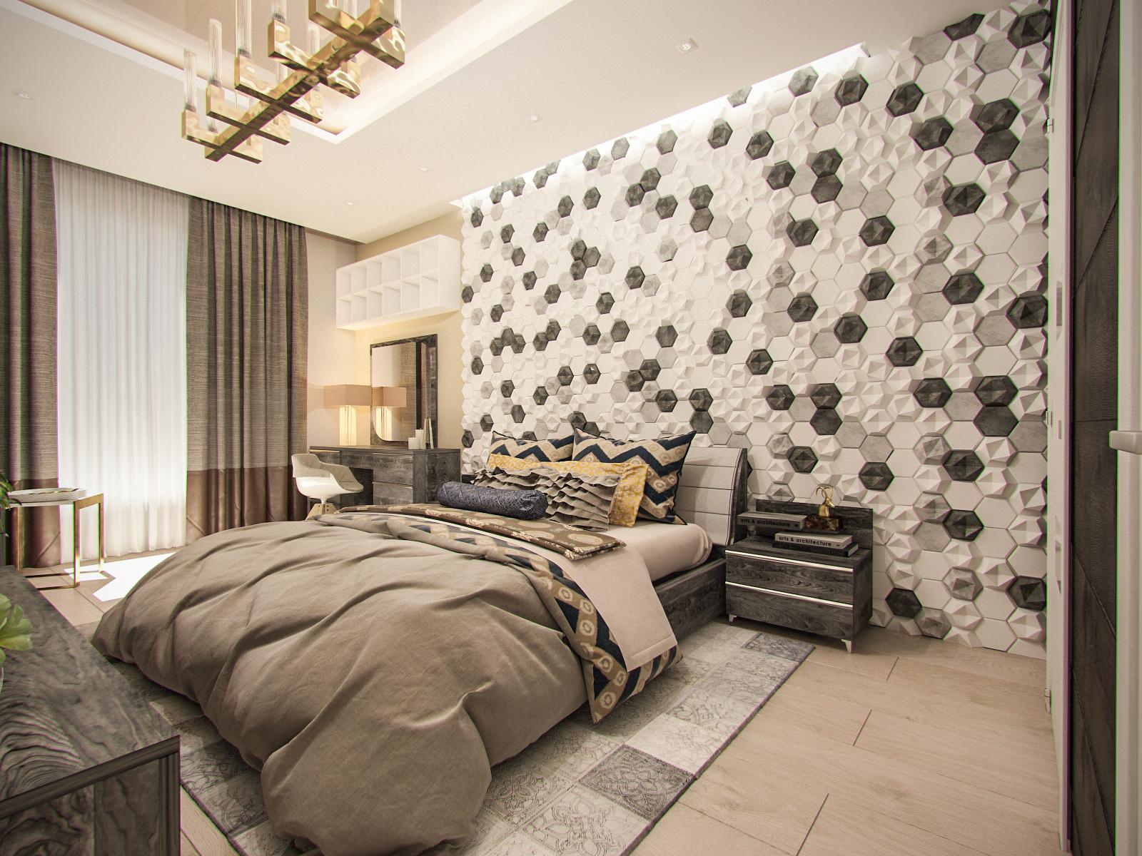 Дизайн-проект спальни, г. Москва