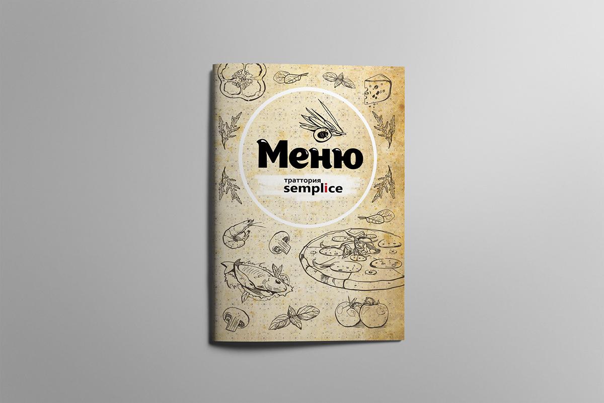 """Траттория """"Semplice"""", Москва, многостраничное меню"""