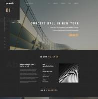 Дизайн + Верстка go.arch [themeforest]