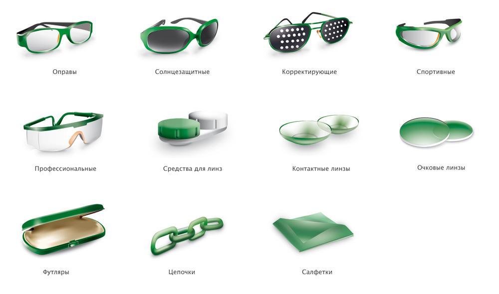 Иконки для Интерент-магазина Оптики