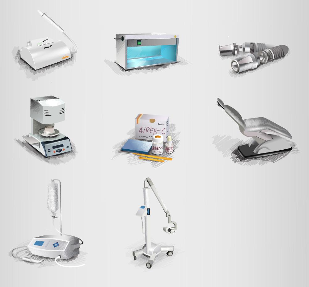Иконки для поставщика стоматологического оборудования