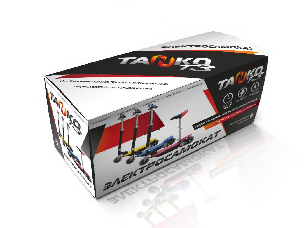 Разработка дизайна коробки для электросамакатов TANKO