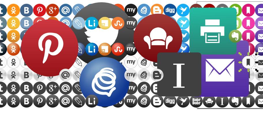 Иконки социальных сетей в векторе