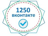 1250 человек в группу, сообщество ВКонтакте