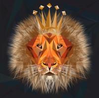 Лев, отрисовка с растра