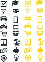 Сет монохромных иконок