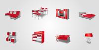 Мебель ( красная)