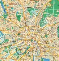 Карта Москвы в векторе высокой детализации