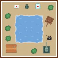 Карта для игры в векторе