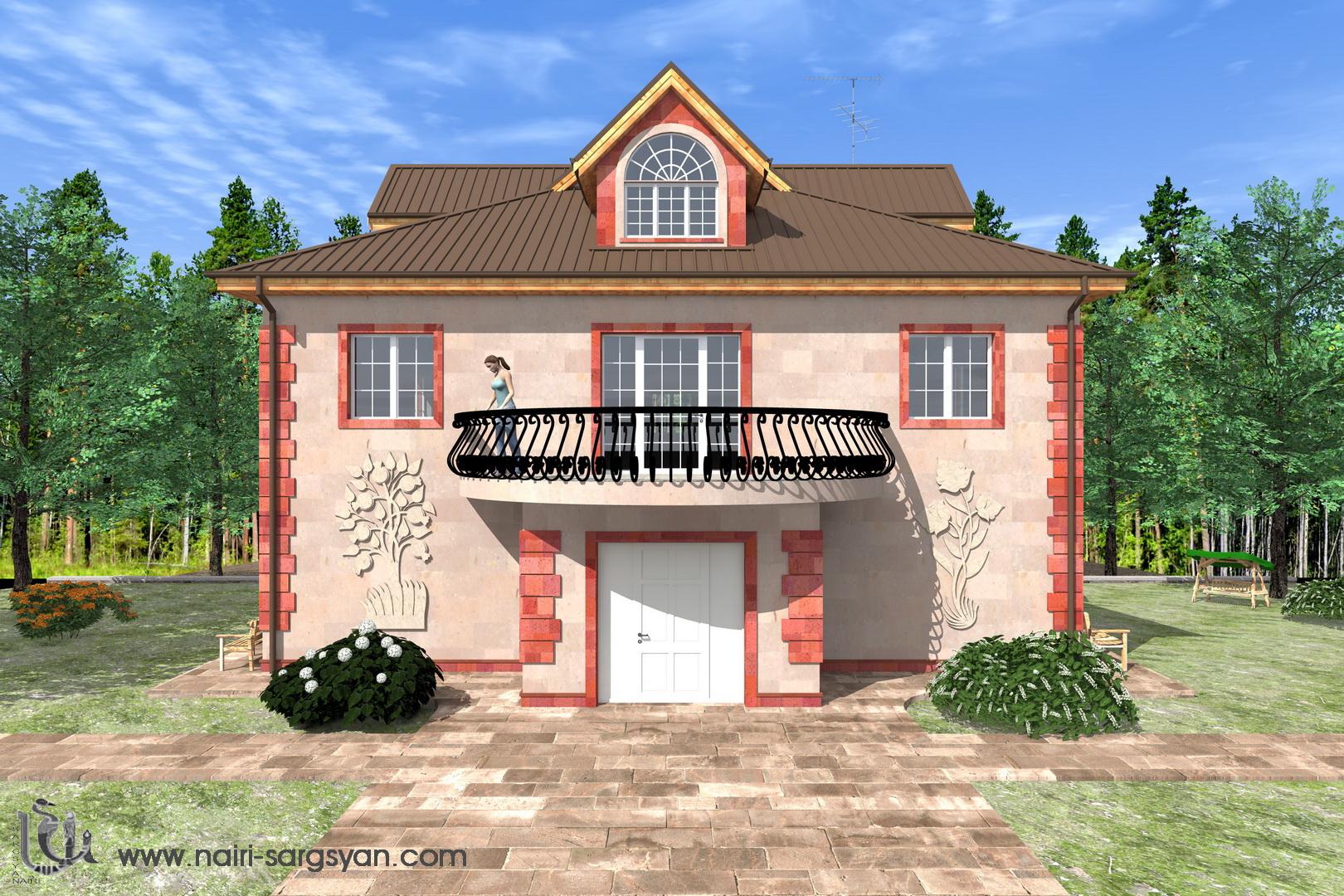 Архитектурный проект фасада коттеджа фото f_38754ac2465db633.jpg