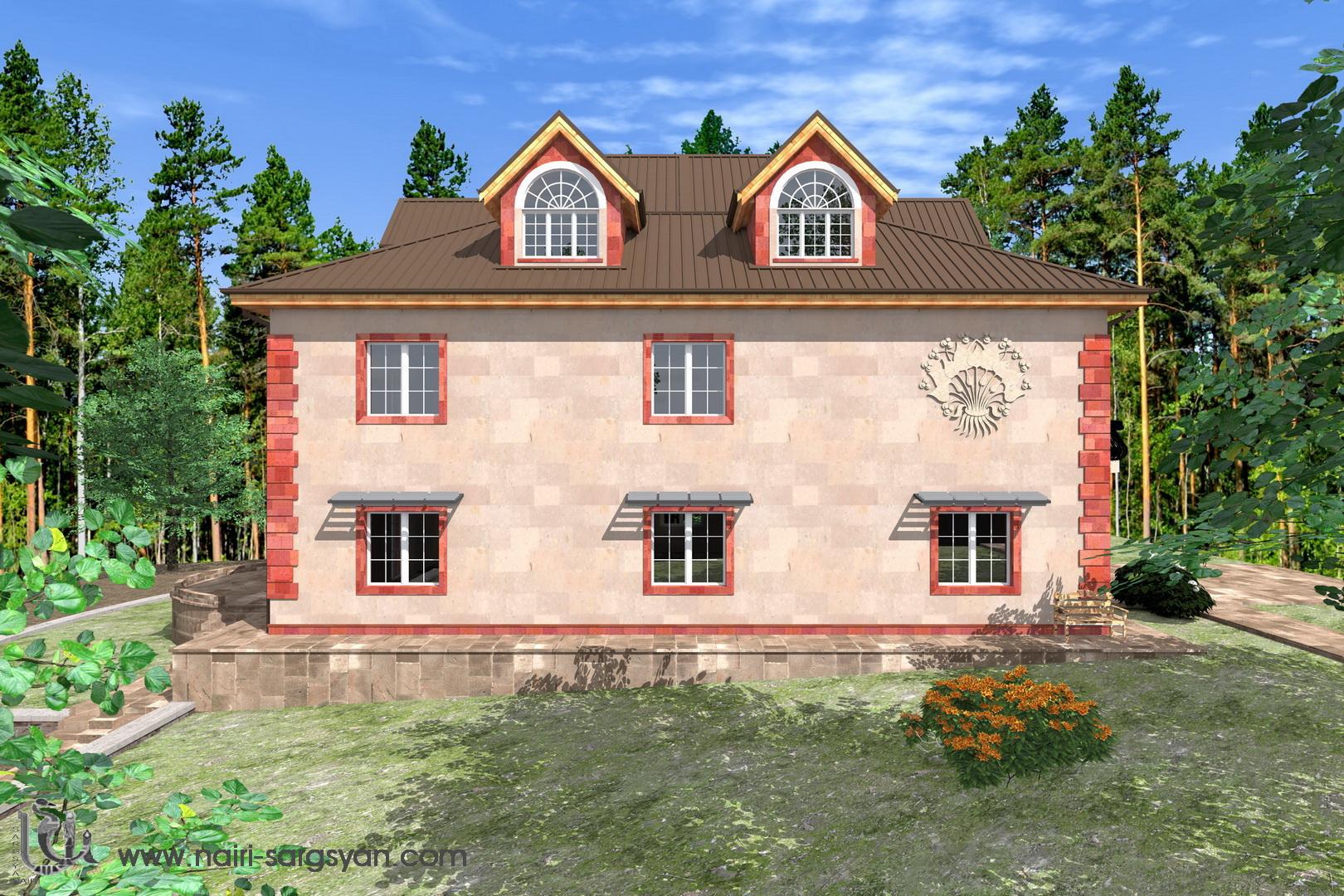 Архитектурный проект фасада коттеджа фото f_38854ac2494c8172.jpg