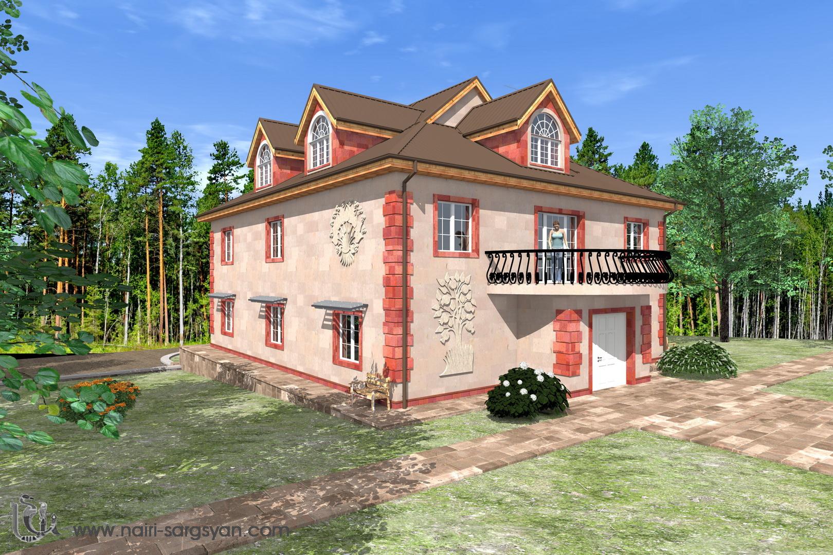 Архитектурный проект фасада коттеджа фото f_51954ac24797fba7.jpg