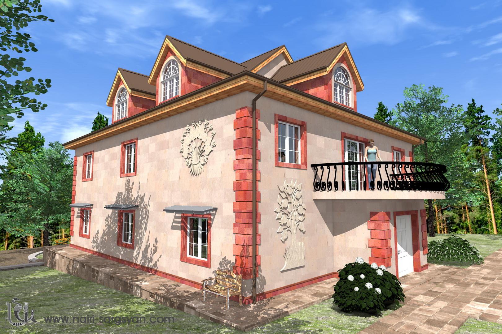 Архитектурный проект фасада коттеджа фото f_67554ac24a1d4e91.jpg
