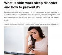 What is shift work sleep disorder and how to prevent it?