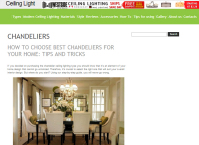How to Choose Best Chandeliers for your Home: Tips and Tricks (SEO)