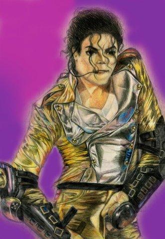 Майкл Джексон - цв карандаши, фотрмат А3
