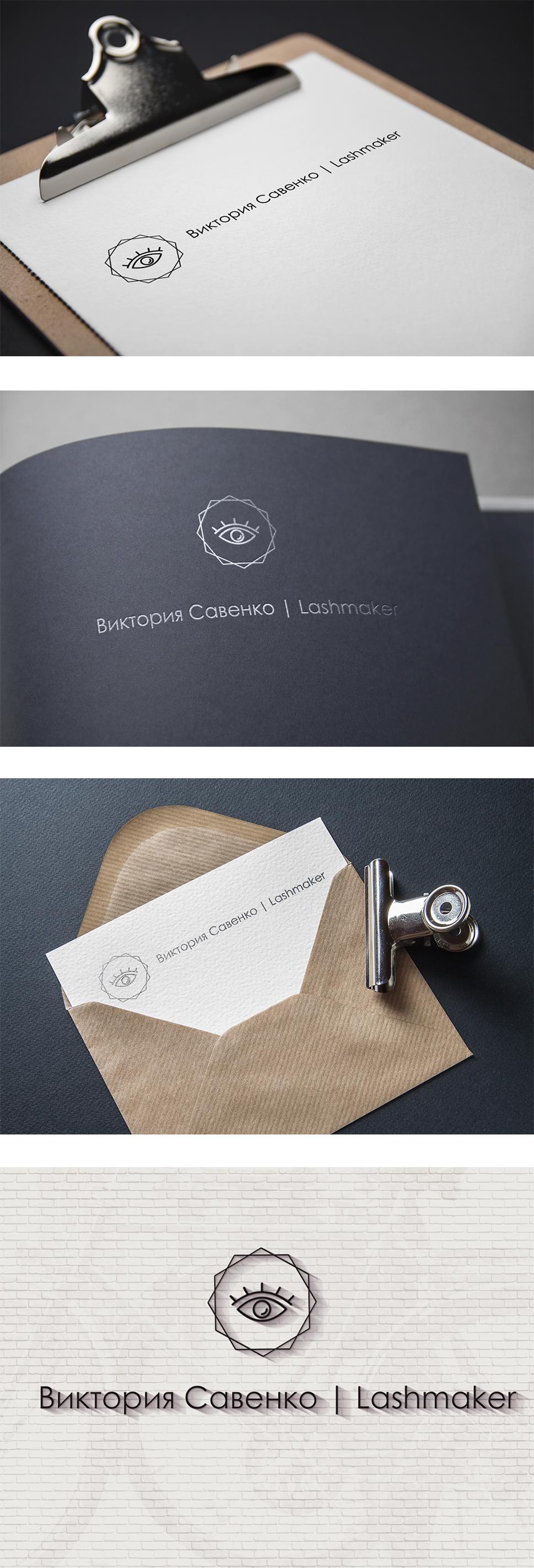 Разработка логотипа – Lashmaker Виктория Савенко