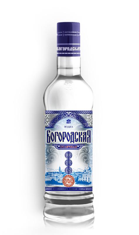 Редизайн этикетки водки Богородская 1