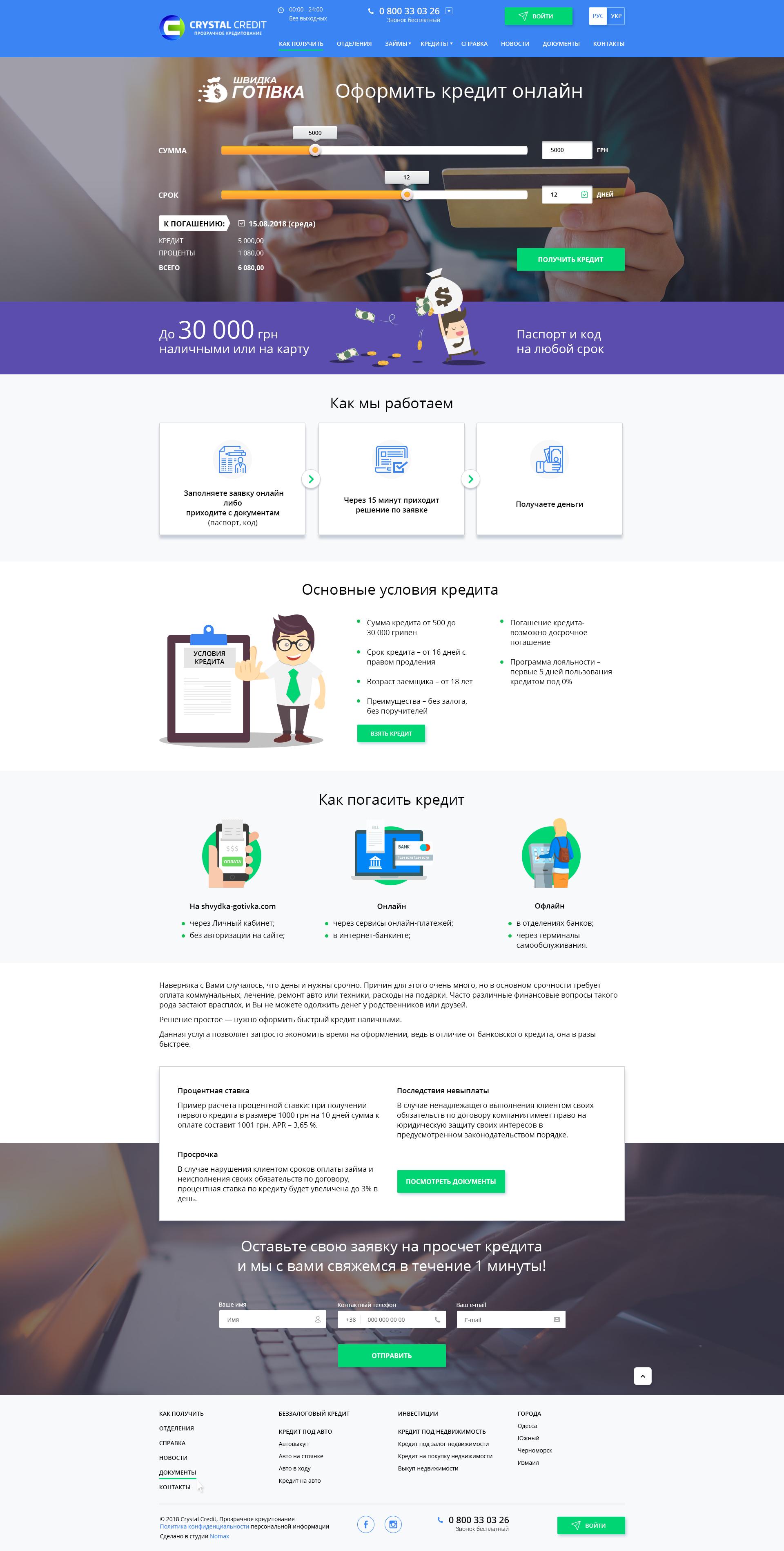 Сайт быстрого кредитования