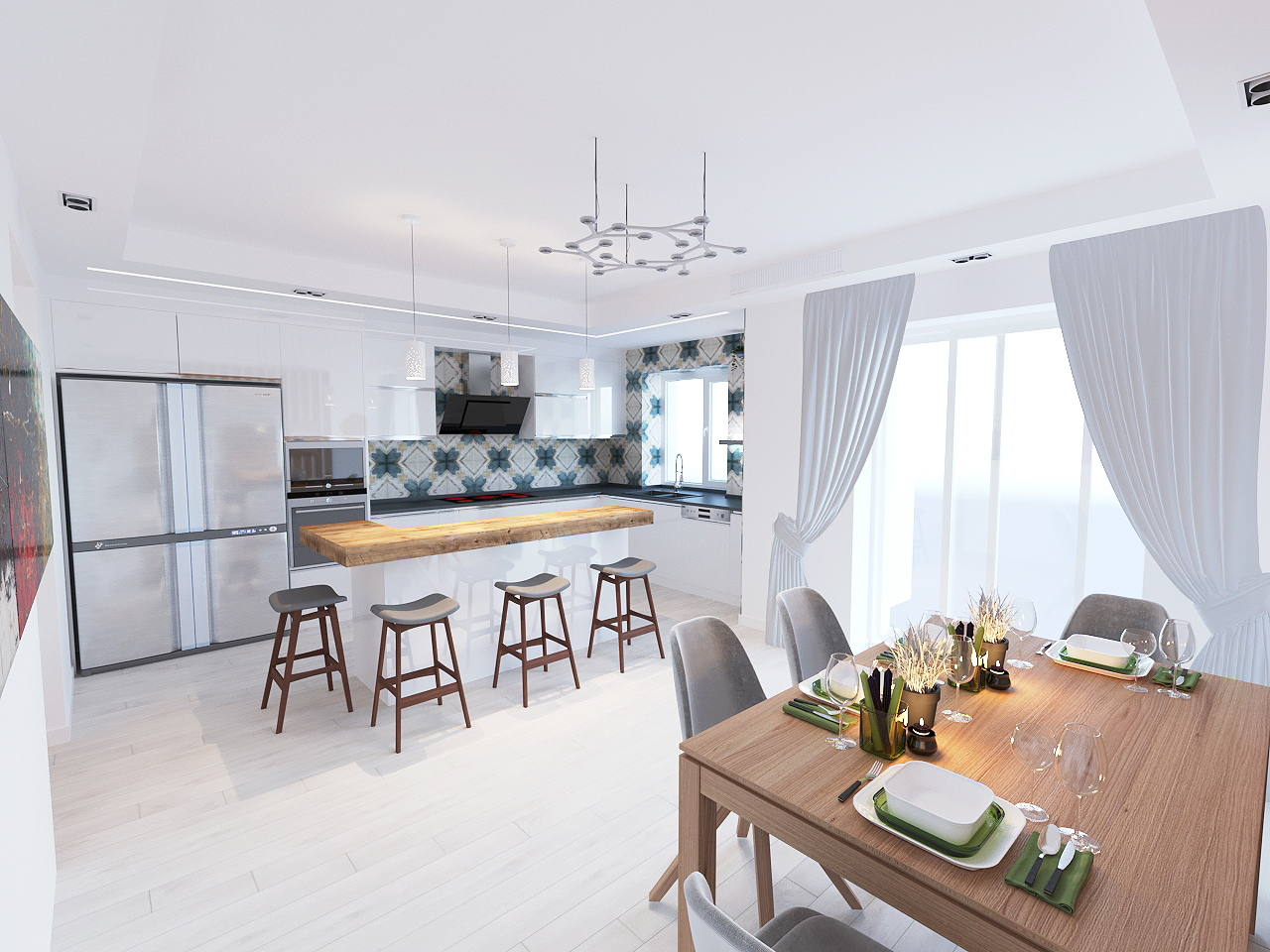 Дизайн проект интерьера первого уровня квартиры 69,9 м.кв. фото f_6605a8533cdbc1f0.jpg