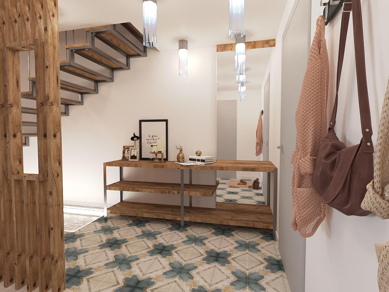 Дизайн проект интерьера первого уровня квартиры 69,9 м.кв. фото f_7735a857e5ac5fd8.jpg