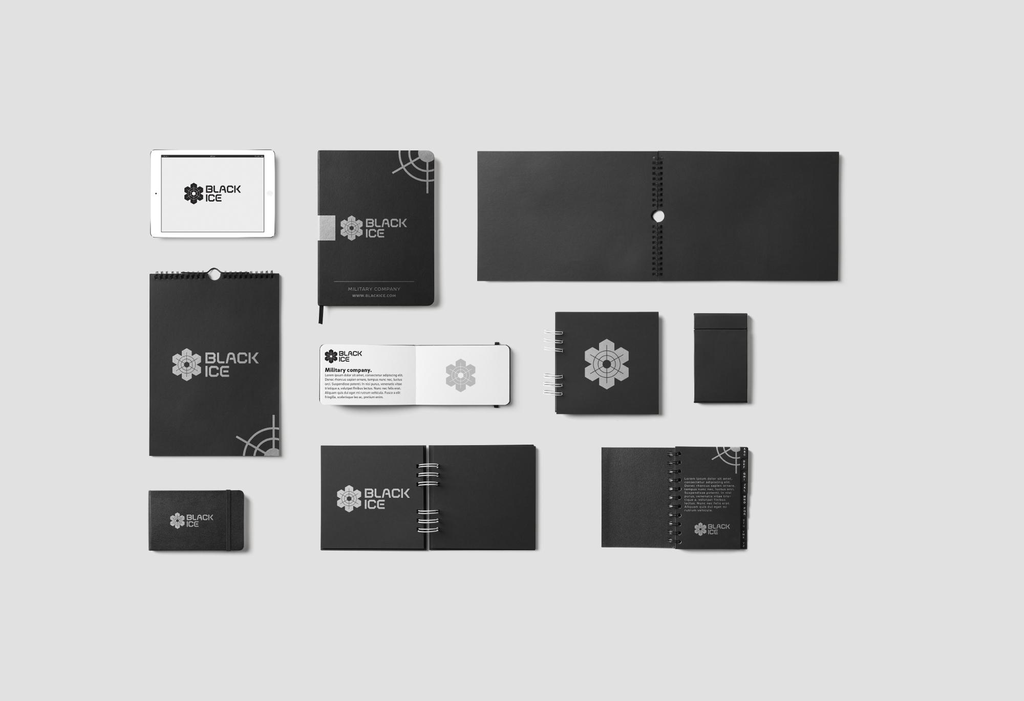"Логотип + Фирменный стиль для компании ""BLACK ICE"" фото f_752571a788aeec8d.jpg"