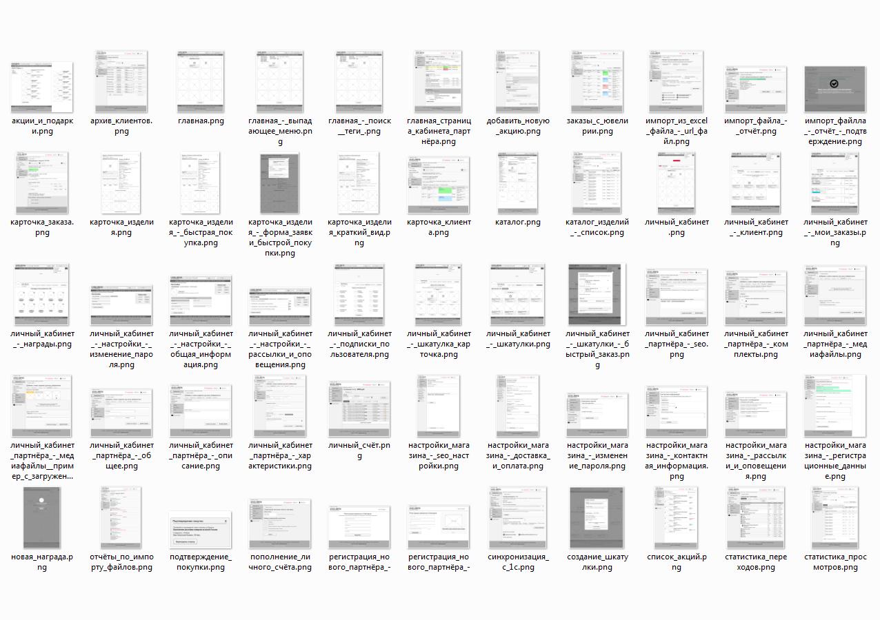 Проектировка личного кабинета партнерского магазина (Агрегатор ювелирных украшений) (50+ страниц)