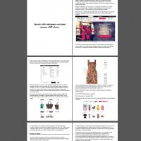 Анализ интернет-магазина одежды