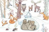 Иллюстрация - лесные персонажи