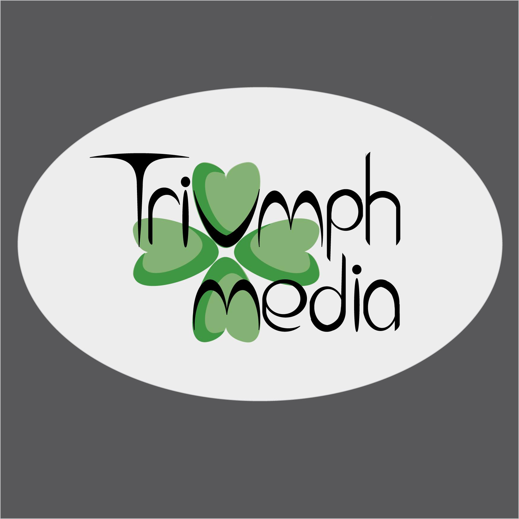 Разработка логотипа  TRIUMPH MEDIA с изображением клевера фото f_50797c1d84cf1.png