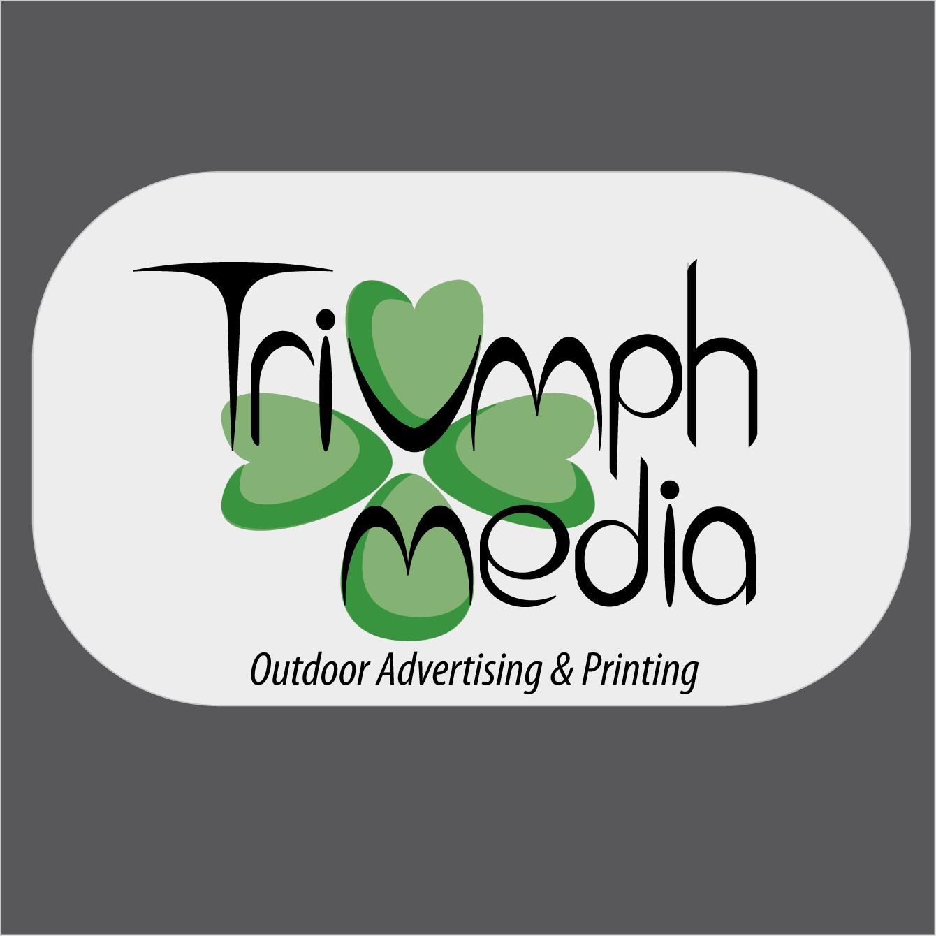 Разработка логотипа  TRIUMPH MEDIA с изображением клевера фото f_50797c30a43af.png