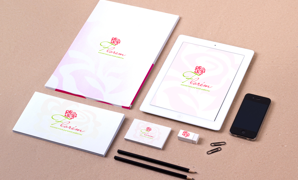 Фирменный стиль для линии натуральной косметики Florem