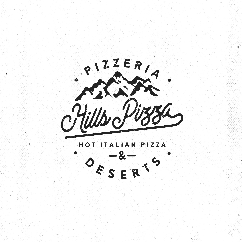 Hill's Pizza (logo design)
