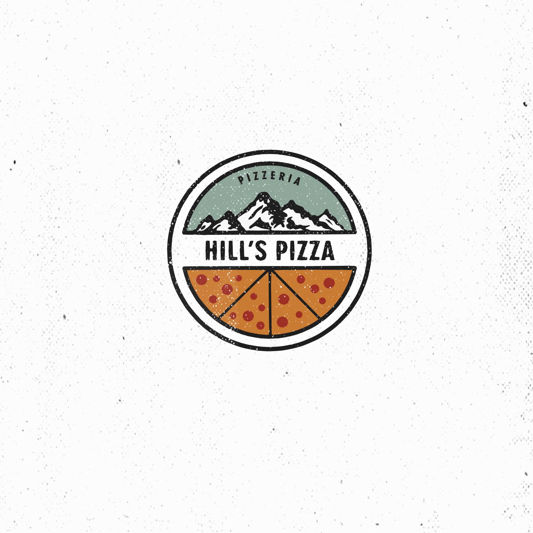 Hill's Pizza #2 (logo design)