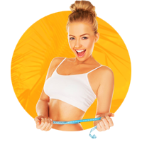 Адаптивный одностраничный сайт о похудении.